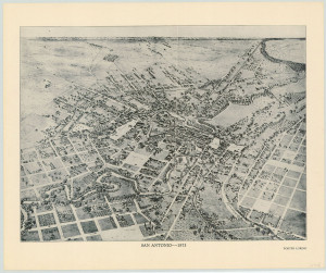 Birdseye view of San Antonio 1873